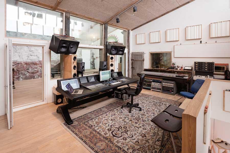 The studio's control room
