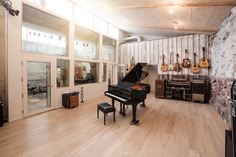 The studio's large live room